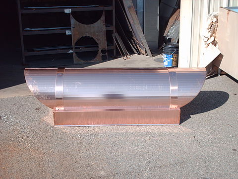 Side View Copper Chimney Cap